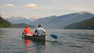 taking a Canoe rental on clearwater lake