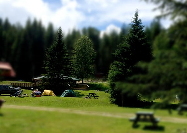 Helmcken Falls Lodge Camping area
